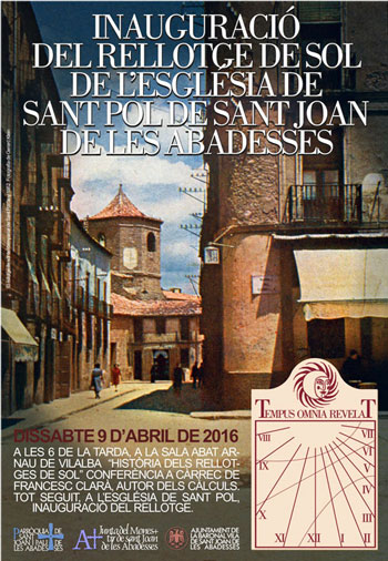Inaug RS St.Joan Abadesses cartell