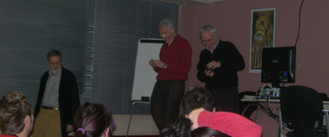 J. Girbau i J.M. Oliver, finalitzades les seves intervencions