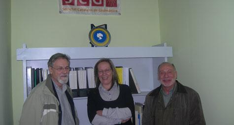 Sra. Maria Cardona, Srs. Jaume Ventura i Eduard Farré