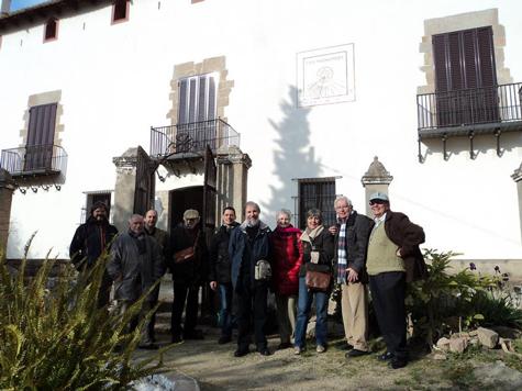 En Jordi Nogué al centre, amb algunes de les persones que van participar a la visita