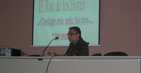 El nostre soci Joan Vázquez durant la seva exposició