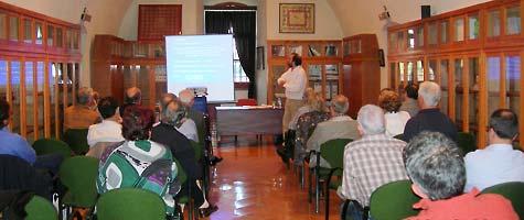 Aspecte de la sala durant la conferència